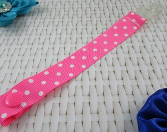 Dummy Clip / Pacifier Strap - Polka Dot