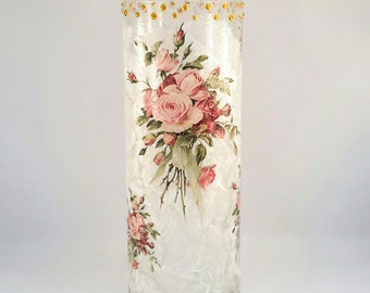 Decoupage Glass Vase