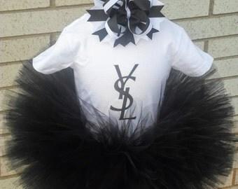 YSL Inspired Tutu Outfit, YSL Tutu Outfit, YSL Tutu, ysl, Black ysl Tutu Outfit