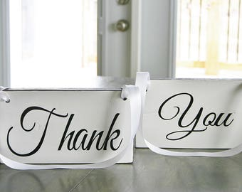 Thank You wedding signs, wedding photo prop signs