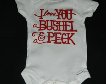 A Bushel and a Peck Valentine's Onesie