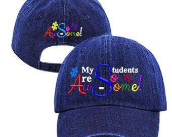 My Students Are So Au-Some Baseball Hat/Cap, Autism, Spectrum, Awareness, Autistic, Teachers