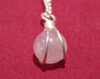 Semi precious stone  / crystal necklace chain pendant