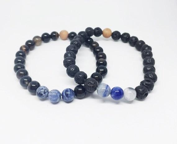 Sodalite Mala Bracelet, Meditation Bracelet, Yoga Bracelet, Gemstone Bracelet, Gift For Her, Gift For Him, Aromatherapy Bracelet