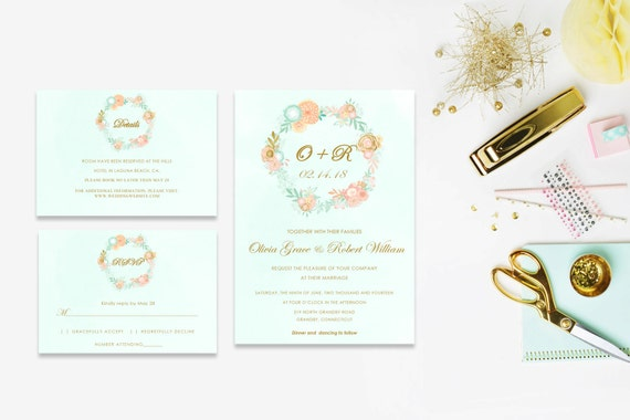 Floral wedding invite word_18,INSTANT DOWNLOAD, Editable Wedding template invitation. Microsoft Word template.Wedding Printable
