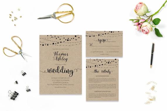 Craft wedding invite_4,Printable Wedding Invitation Suite,Wedding Invite Set,Wedding Printable,Calligraphy