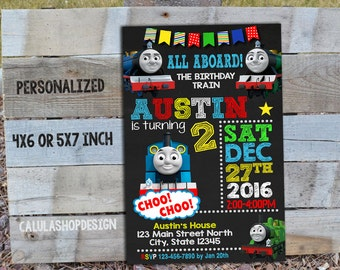 Thomas Train Birthday Invitation / Thomas Train Invitation Birthday / Thomas Birthday Invitation / Train Birthday Invitation / Thomas Train
