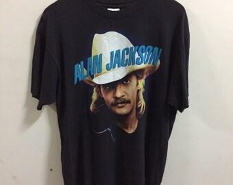 Vintage 1990s Alan Jackson Shirt Size XL Made In USA