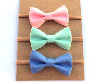 Solid Spring Mini Bows