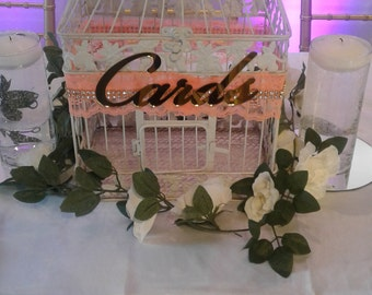 Large Wedding Card Box / Wedding Card Holder / Birdcage Card Holder / Wedding/ Card Box/Bird Cage/ Reception