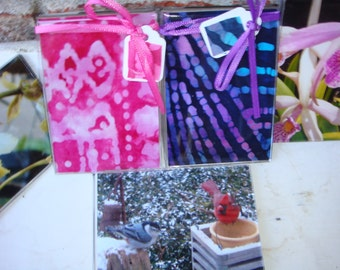 Decorative Photo Magnets of Batik, Orchids and Nature