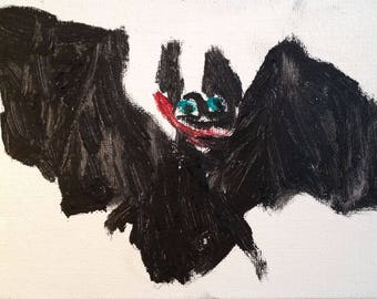 Happy Black Bat