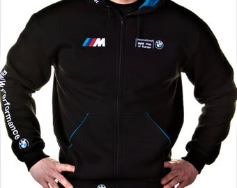Zip Hoodie BMW, M Power, Motorsport, Embroidery logos, Best offer. Free Shipping