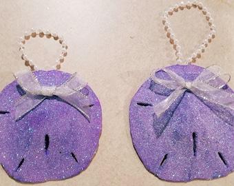 Pretty in Purple sand dollar pair.