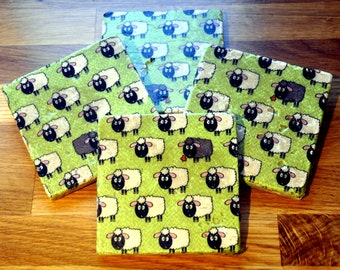 Sheep Natural Stone Coaster
