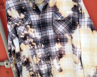 Black and white bleached flannel XXL