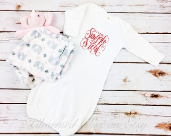 The Snuggle Is Real/Baby Gown/Baby Sleeper/Baby Sleeper Gown/The Struggle Is Real/Infant Sleeper Gown/Baby Shower Gift/Baby Gift