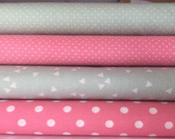 Fabric package, mint pink kind. 7917