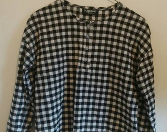 Soft gingham plaid pullover, women s/m