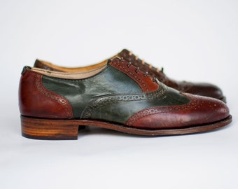 Cary G. Green bottle cognac Oxford shoes-Handmade shoes- Mens Oxfords- Mens Oxford Shoes- Custom Shoes-Man Shoes-Leather shoes