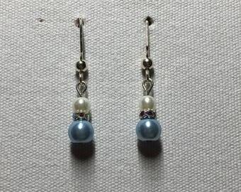 Lt blue bulb earrings
