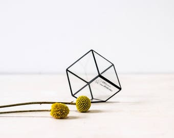 mini glass cub    geometric glass box    ring pillow alternative    wedding ring box    made to order