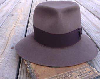 Vintage Mallory Premier 1940s hat fedora men's size 7