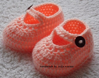 Baby girl shoes, crochet shoes for newborn girl, handmade baby booties, baby slippers, sandals for baby girl, crochet baby shoes