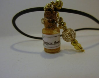 Magic potion vial with leather strap - liquid Sun