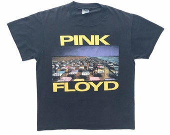1987 Pink Floyd 'A Momentary Lapse of Reason' World Tour Vintage Band T-shirt - Small - King Crimson, Led Zeppelin