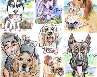 Pet-Family Caricature