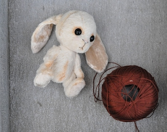 Stuffed Teddy Bunny Rabbit  Animal Handmade Toy Collectible gift by Alishahandmade