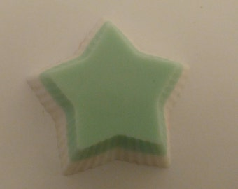 Shea butter and oatmeal star soap