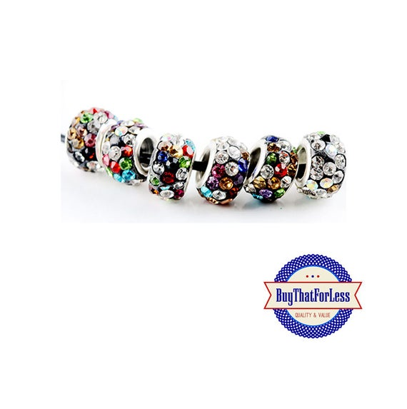 Glittery Glass Beads, MULTI oolor, 6, 12, 24 pcs, +FREE Shipping & Discounts*