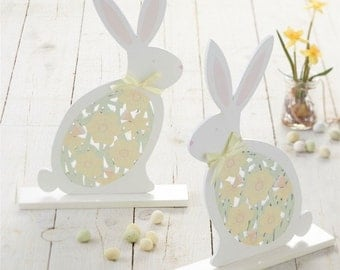 Easter Decoration - Wooden Standing Bunny