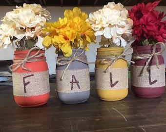 Set of 4 FALL Jars