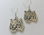 Tiger earrings  tiger jewellery  animal earrings  animal jewellery  animal lover gift  wildlife earrings  wildlife jewellery