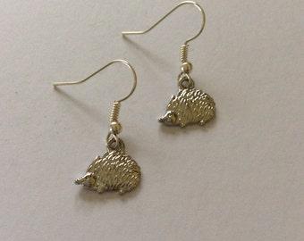 Hedgehog earrings / hedgehog jewellery / wildlife jewellery / animal necklace / animal jewellery / animal lover gift