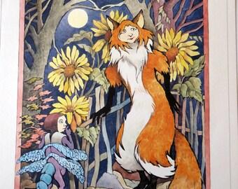 Maurice Sendak print, The Cunning Little Vixen, vintage poster print MS25