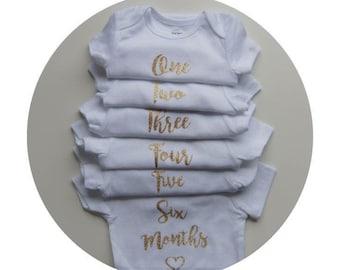 Monthly Onesies Milestones Set | Set of 12