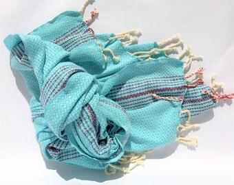 100% COTTON TURKISH TOWEL-Peshtemal, Beach Towel, Turkish Beach Towel, Turkish Bath Towel, Bath Towel. Cotton Towel, Hammam Towel, Fouta