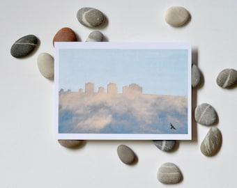 Double Skies - postcard print