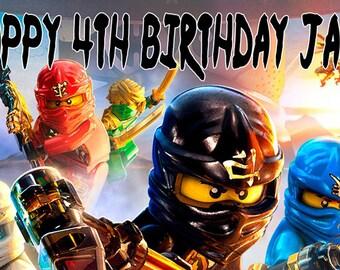 Lego Ninjago Birthday Banner
