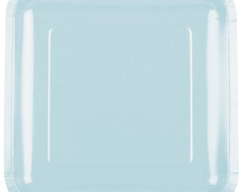 """25 (9"""") Pastel Blue Square Paper Plate, Wedding Supplies, Wedding, Wedding Decor, Party Supplies, Party, Paper Plate, Tableware"""