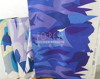 Kokka Cotton linen mountain koto thouin japanese fabric - 50cm