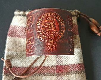 Clan MacGregor leather wrist cuff