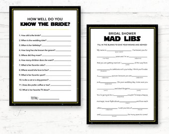 Star Wars Bridal Shower Games Pack - 2 Games - About the Bride & Bridal Mad Libs - Instant Download