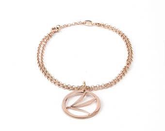 Dragonfly Bracelet White Gold