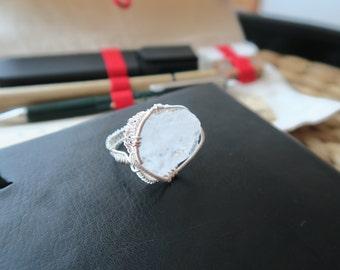 Snow Quartz Ring: Pure