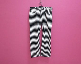 "Rare Comme Des Garcons Junya Watanabe Man Stripes Pants waist 32"" x 38"" in mint condition"